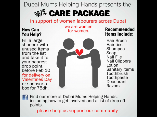 Dubai Mums Helping Hands presents the We care package