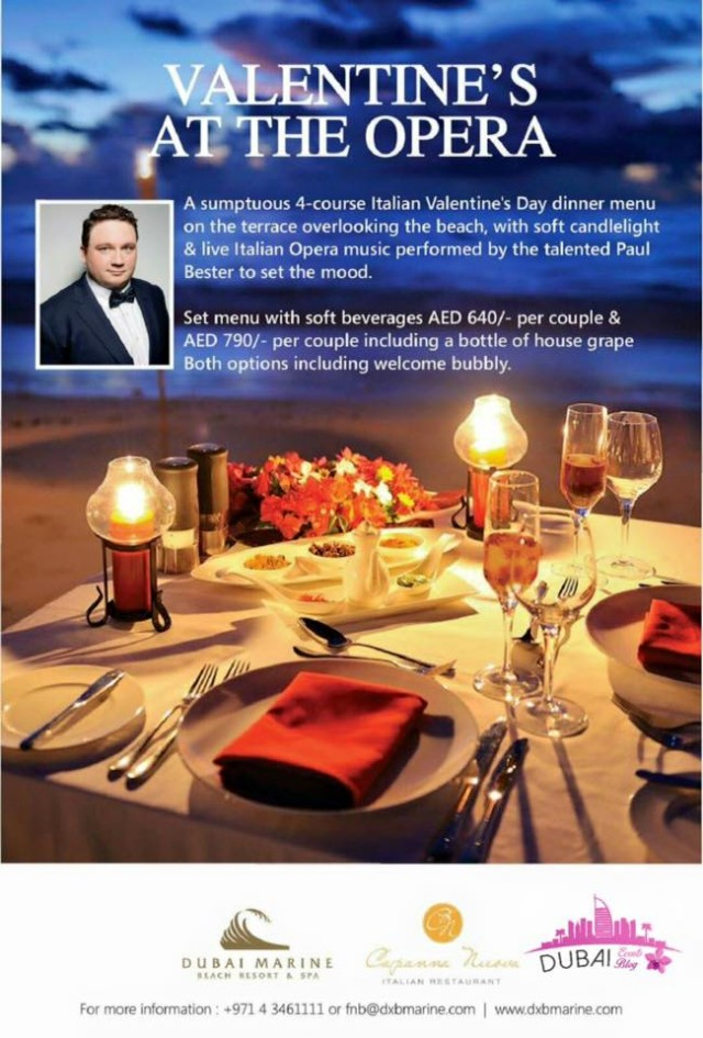 Valentine's At The Opera @ Capanna Nuova Restaurant Feb 14th 2016