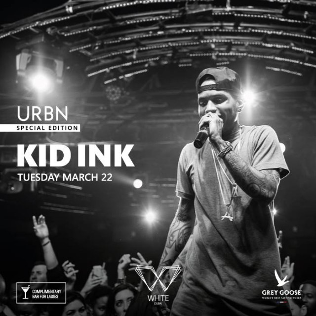 Kid Ink to Perform @ WHITE Dubai for URBN Special Edition on March 22 2016