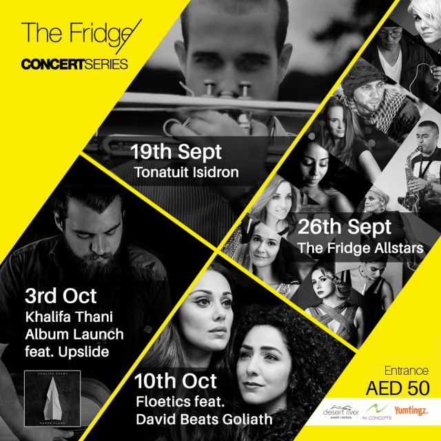 THE FRIDGE Concert Series returns from 19th September