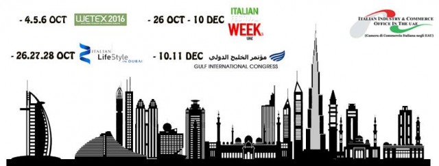 Italian Festival Weeks in the UAE on 26th Oct- 10th Dec 2016