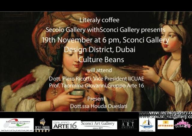 """Caffe' Letterario: """"Chicchi di Cultura"""" @ Sconci Gallery, D3 on 19th November 2016"""
