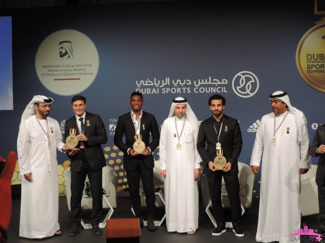 The winners of Globe Soccer Awards Dubai 2016
