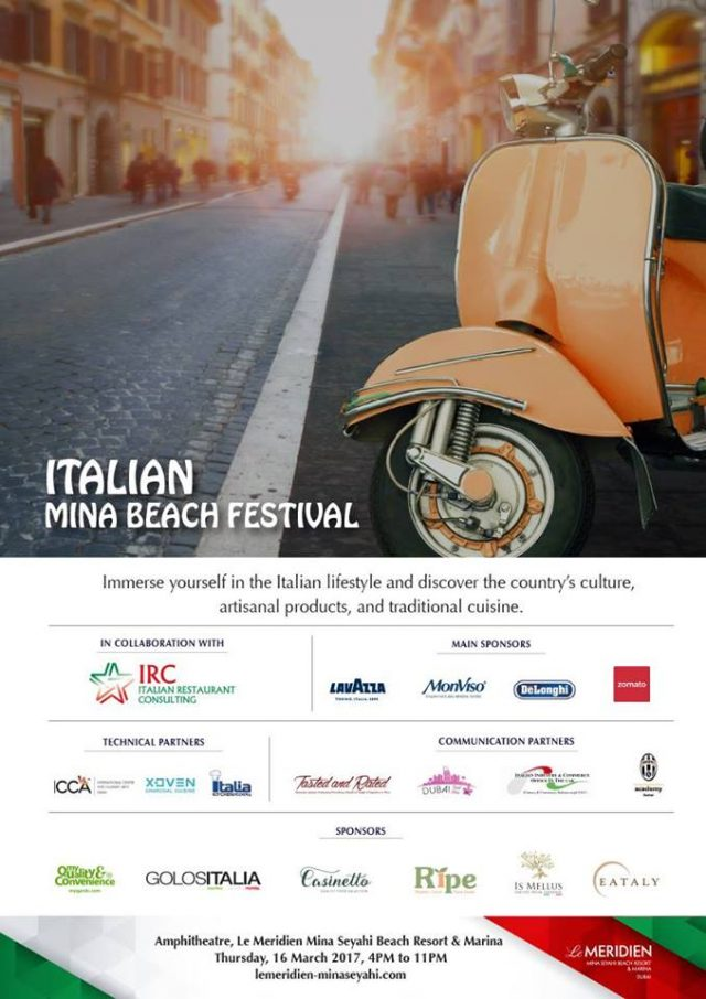 What: Italian Mina Beach Festival When: Thursday 16th March Times: 4pm – 11pm Price: Free entry!