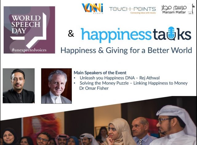 World Speech Day + Happiness Talks Banner