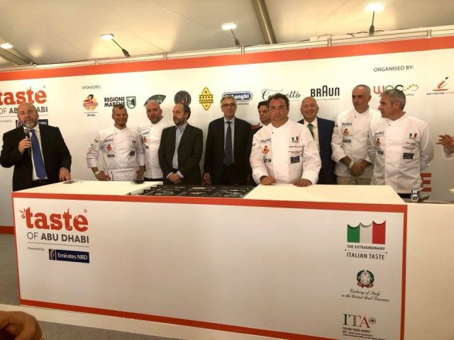 The Italian Pavilion @ Taste of Abu Dhabi, Du Arena 9-11 November 2017