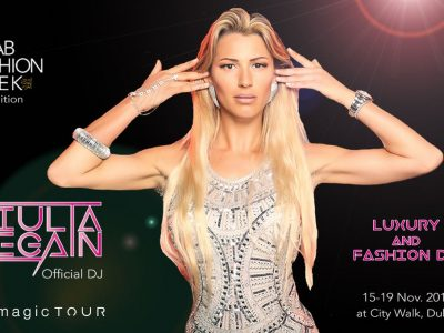 Giulia Regain, Official Dj @ Arab Fashion Week Dubai on 15-19 November 2017