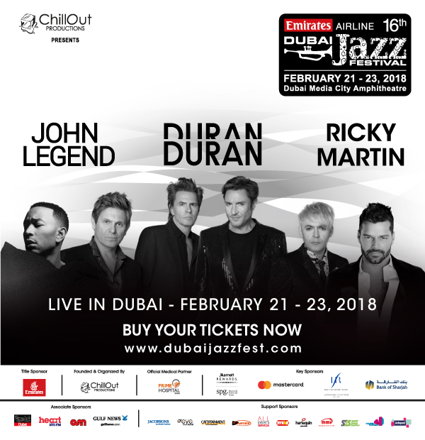 Emirates Airline Dubai Jazz Festival @ Dubai Media City Amphitheatre on 21-23 Feb 2018
