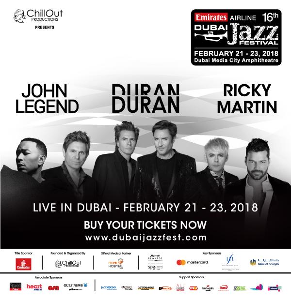 Emirates Airline Dubai Jazz Festival @ Dubai Media City Amphitheatre on 21-23 Feb 2018
