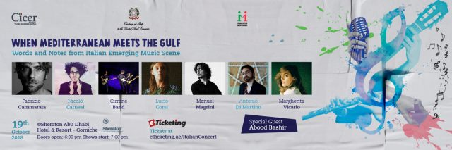 Words and Notes Italian Music Concert @ Sheraton Corniche Abu Dhabi on 19th October 2018