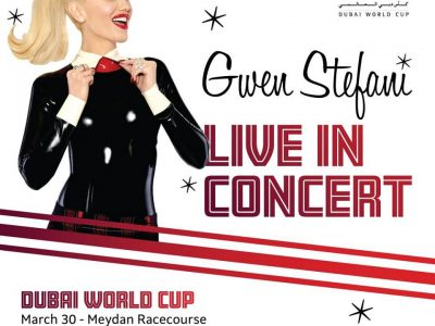 Gwen Stefani to perform @ Dubai World Cup on 30th March 2019