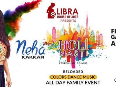 Bollywood Singing Sensation Neha Kakkar to perform live at Holi Masti Event in Dubai