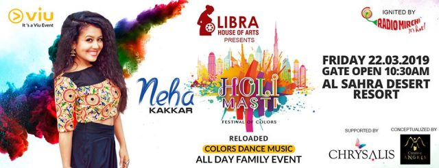 Bollywood Singing Sensation Neha Kakkar to perform live at Holi Masti Event in Dubai