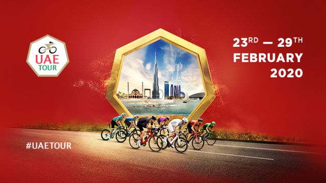 The 2020 UAE Tour will take place 23rdto 29thFebruary, starting in Dubai and finishing in Abu Dhabi
