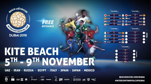 The Intercontinental Beach Soccer Cup lands in Dubai's Kite beach between 5th and 9th of November