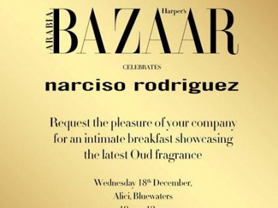 Harper Bazaar Arabia celebrates Narciso Rodriguez @ Alici Bluewaters