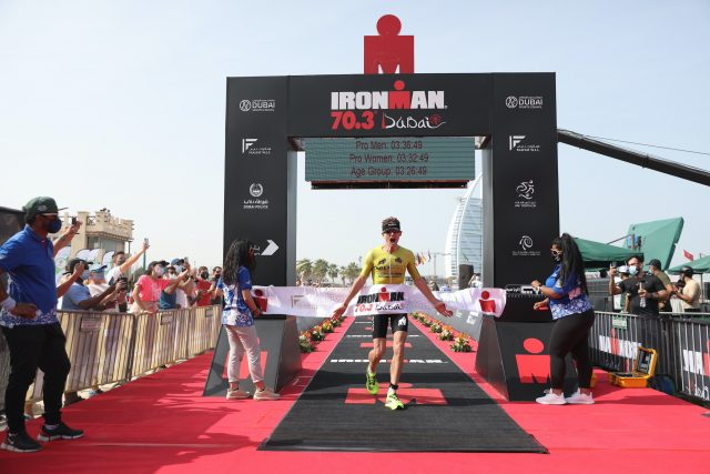 Dane Bakkegard sets new IRONMAN 70.3 Dubai mark while Swiss ace Ryf takes women's crown