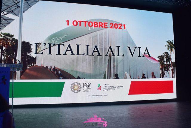 Cerimonia inaugurale del Padiglione Italia ad Expo 2020 Dubai, 1 Ottobre 2021